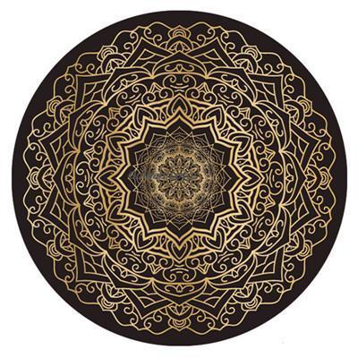 SPIRO ROUND MAT - 3mm - Badass Yoga Gear