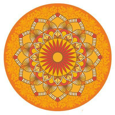 SUNBURST ROUND SUEDE MAT - 3mm - Badass Yoga Gear