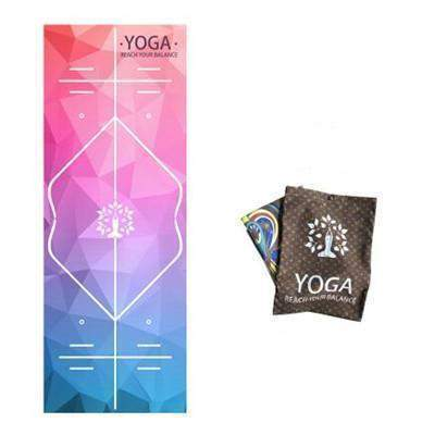 RAINBOW YOGA MAT TOWEL - GUIDED PRINT - Badass Yoga Gear