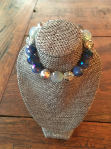 Crystal Bracelet in Blue Tones