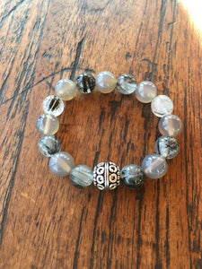 Gemstone Quartz and Agate Bracelet