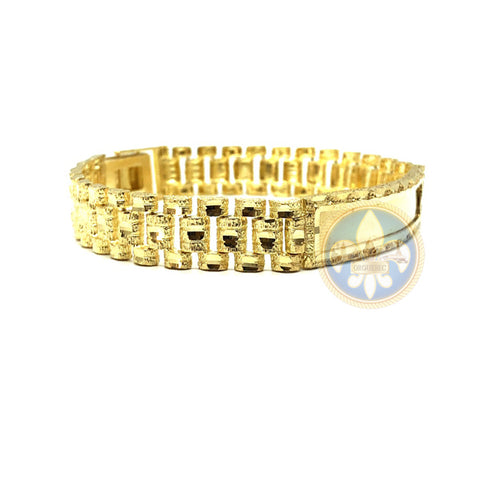 10K 11MM Rolly ID Bracelet MB-002 - OR QUEBEC