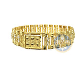 10K 15MM Bracelet CZ Rolly MB-004 - OR QUEBEC