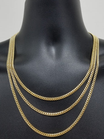 Chaine Miami Cuban Link en or 10k  4mm Maille Serrez Class Italien Special MGC-101