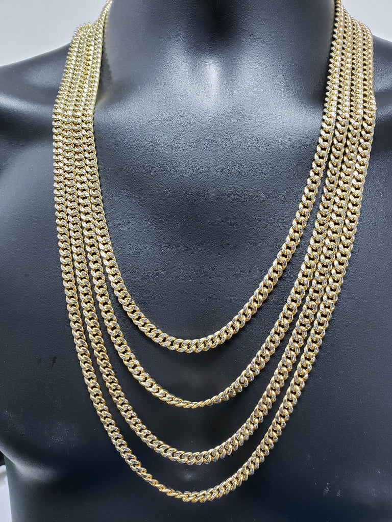 Miami Cuban Link Coupe Diamond Cut 6mm Box Lock 10 Karat Gold MGC-085