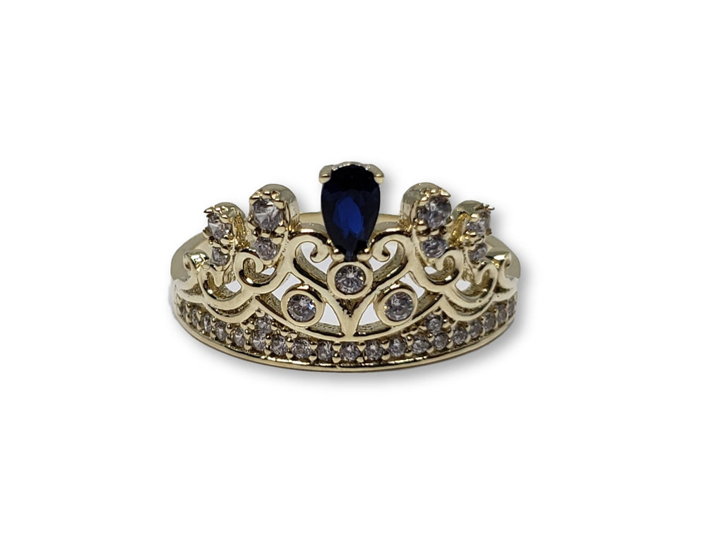 Bague princess en or 10k Saphire bleu WGR-253