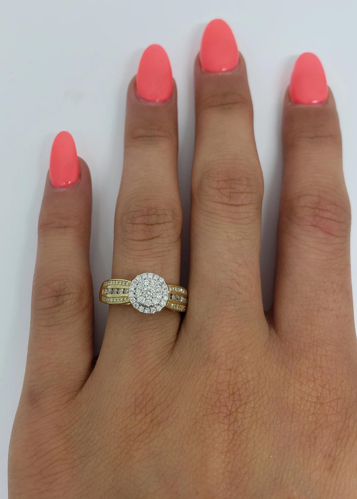 Bague Leanna1 0.50ct de diamants en or jaune 10K