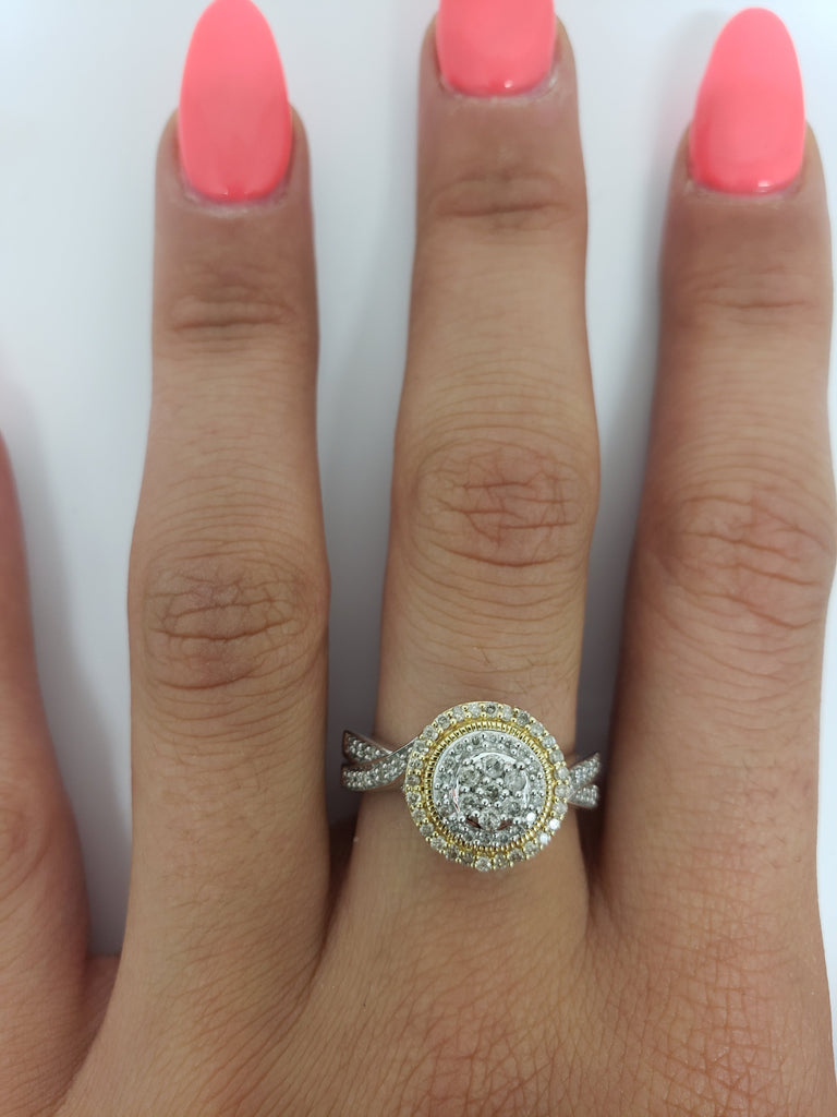 Bague Lessia 0.51ct de diamants en or jaune 10k