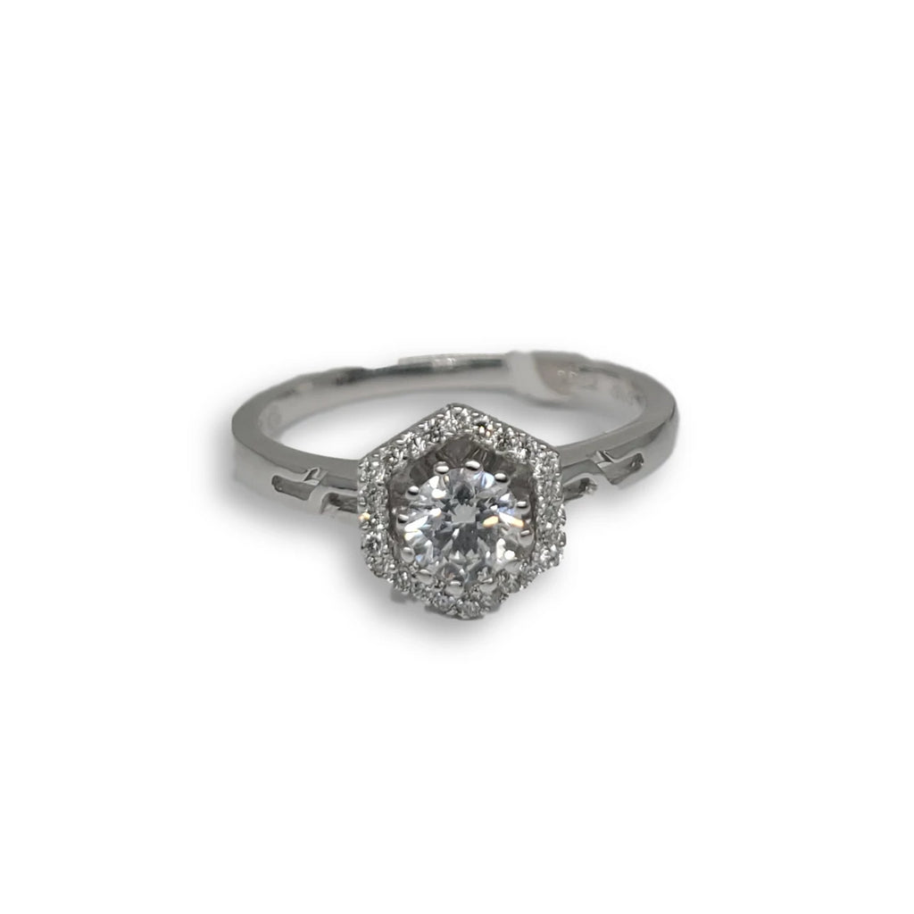 Bague de fiancaille Clea 0.42ct de diamants VS en or blanc 18k