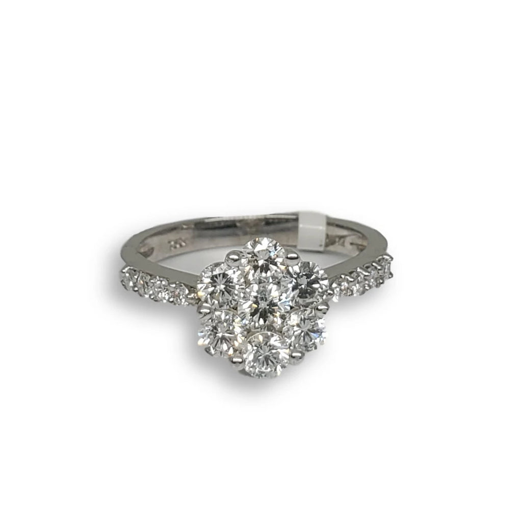 Bague de fiancaille Diana 1.14ct de diamants VS en or blanc 18k