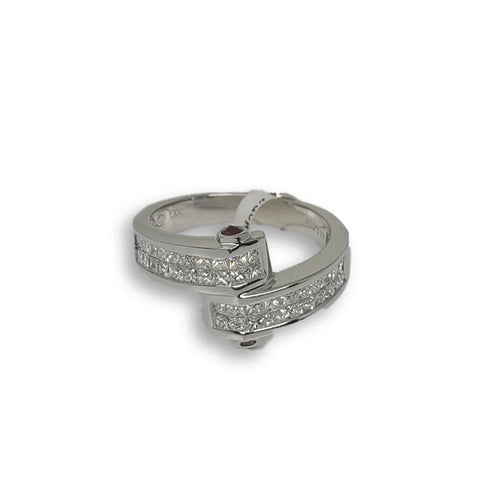 Bague de fiancaille Veronica 0.99ct de diamants VS en or blanc 18k