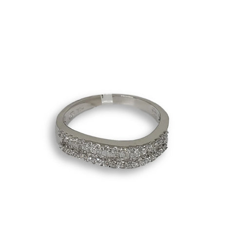 Bague de fiancaille Nadia 0.39ct de diamants VS en or blanc 18k