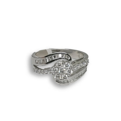 Bague de fiancaille Wendy 0.70ct de diamants VS en or blanc 18k