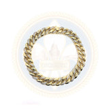 10K Or Jaune 1.12CT Diamant Bracelet Cuban Link DBG-002 - OR QUEBEC