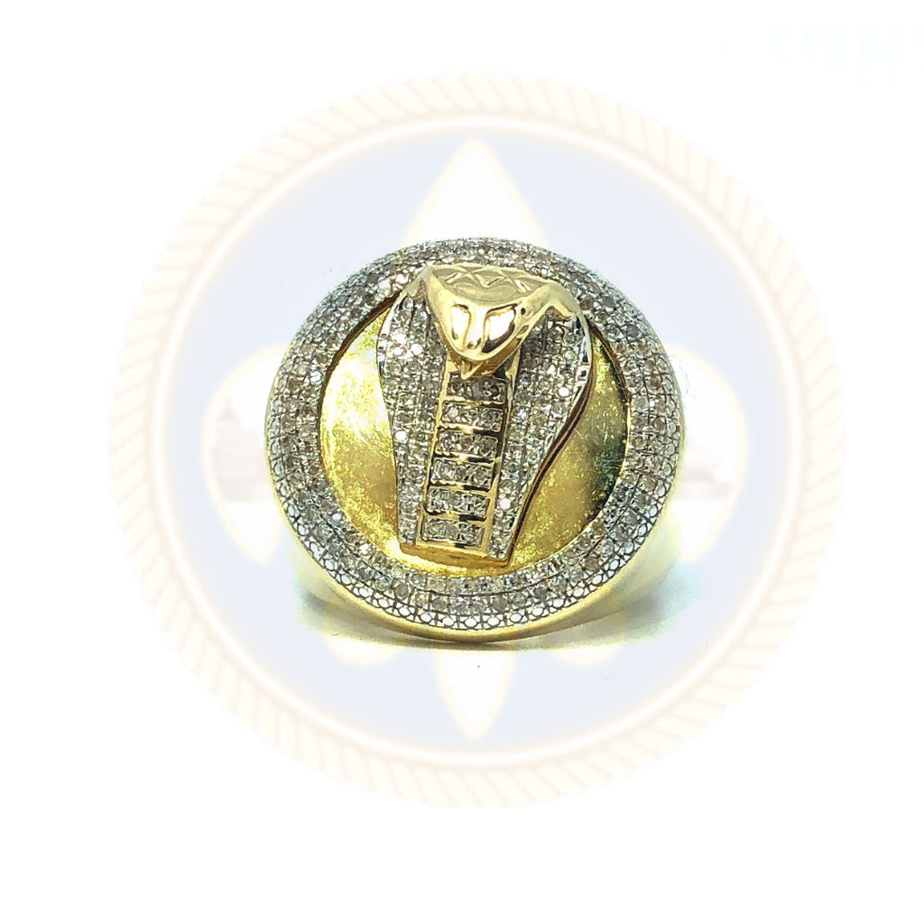 10K Or Jaune et Blanc Bague Cobra 0.52CT Diamonds DRG-004 - OR QUEBEC