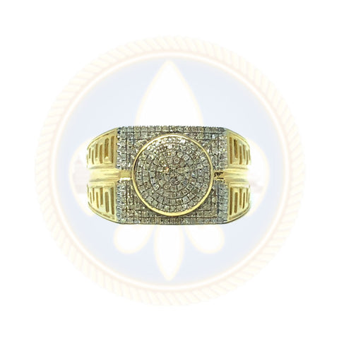 10K OR JAUNE Bague & Diamant Mixte 0.33CT DRG-006 - OR QUEBEC