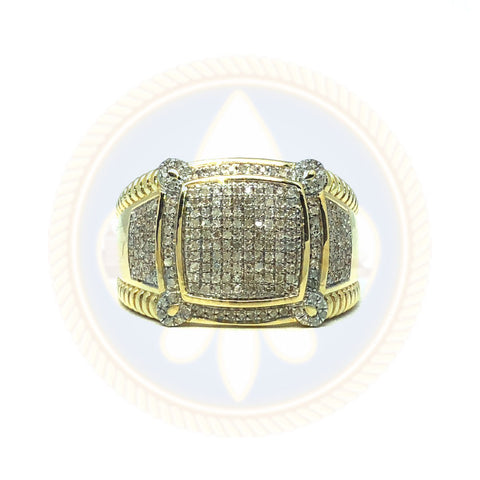 10K Or Jaune Bague Mixte 0.56CT Diamants DRG-007 - OR QUEBEC