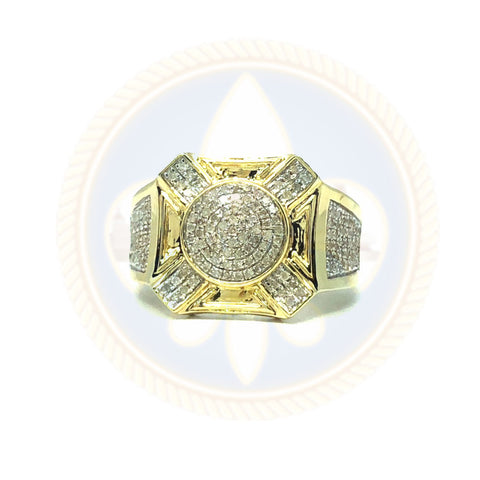 10K Or Jaune & Blanc Avec Croix 0.56CT Diamants DRG-008 - OR QUEBEC