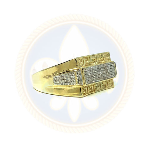 10K Or Jaune 0.25 CT Bague & Diamants DRG-009 - OR QUEBEC