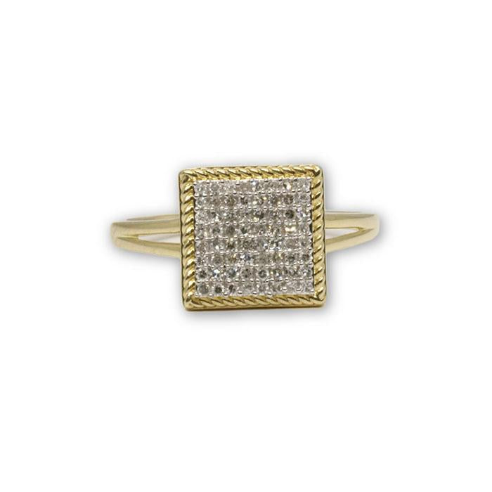 Bague Fiancailles Diamants 14K Or Jaune DRG-037 - OR QUEBEC
