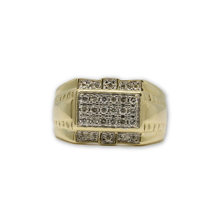 10k Homme Bague Diamants de 0.50 CT DRG-056 - OR QUEBEC