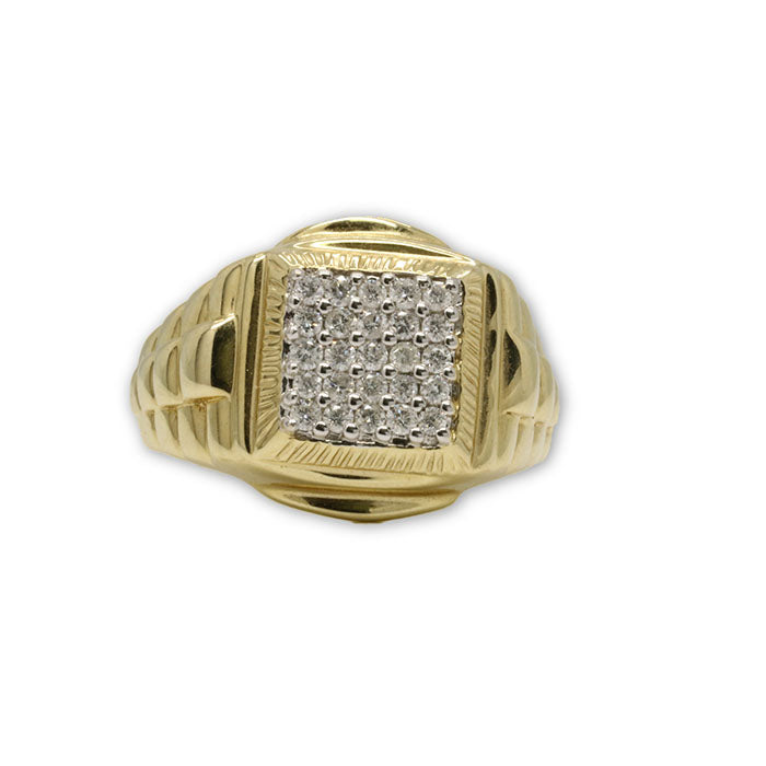 10k Homme Bague Diamants de 0.50 CT DRG-058 - OR QUEBEC