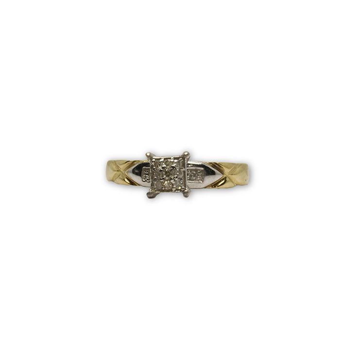 10k Femme Bague Diamants de CT DRG-059 - OR QUEBEC