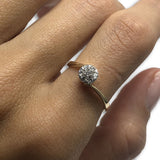 10k Femme Bague Diamants de 0.18CT DRG-067 - OR QUEBEC