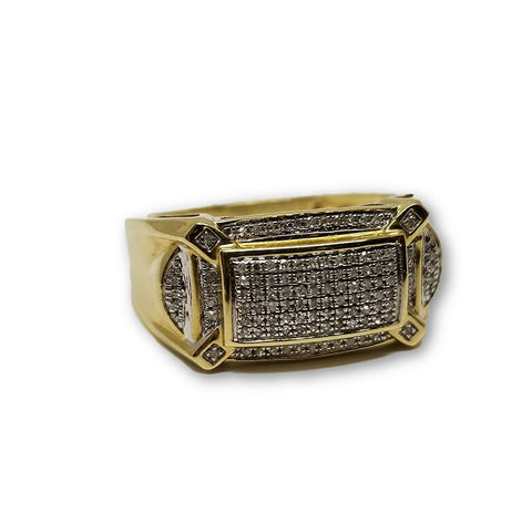 Bague Hiphop 0.18ct diamants en or 10k DRG-022 - OR QUEBEC
