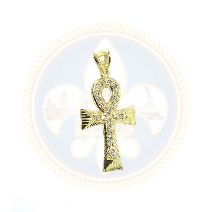 10K Or Jaune Ankh Pendentif GAP-007 - OR QUEBEC