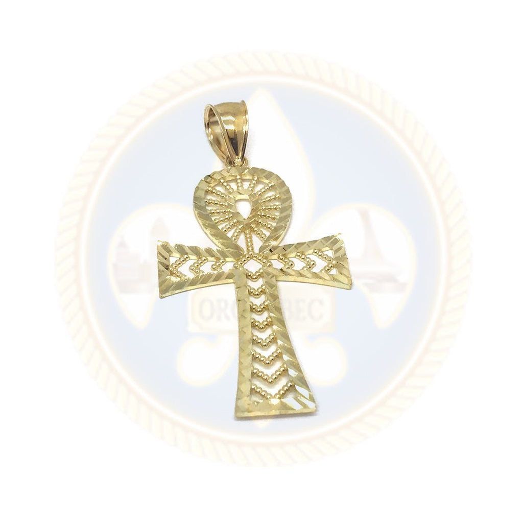 10K Or Jaune Ankh Pendentif GAP-001 - OR QUEBEC