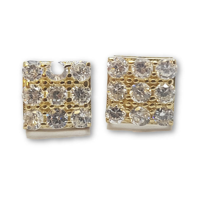 10K Or Jaune Boucle d'oreille Stud Cybele GE-040 - OR QUEBEC