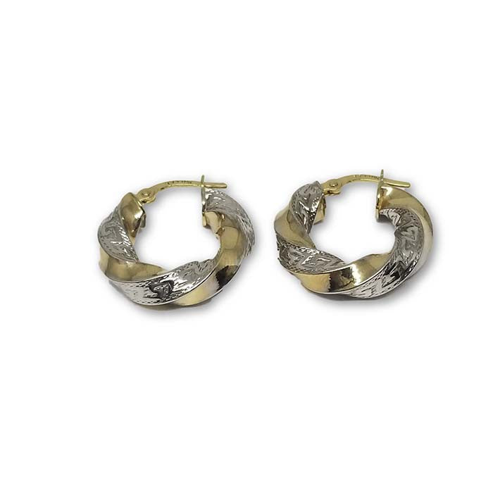 10K Versace Boucle d'oreille en Or Jaune GE-088 - OR QUEBEC