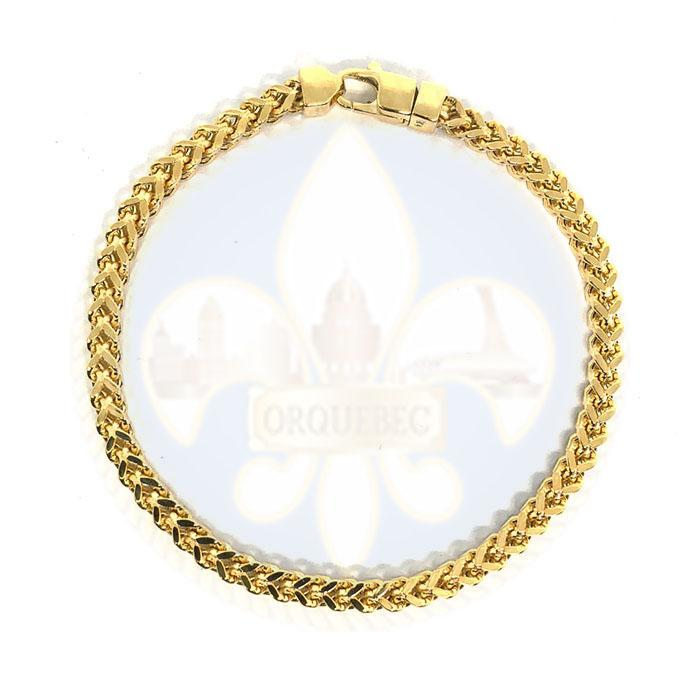 10k 4MM 8.5IN Franco Bracelet MBG-032 - OR QUEBEC