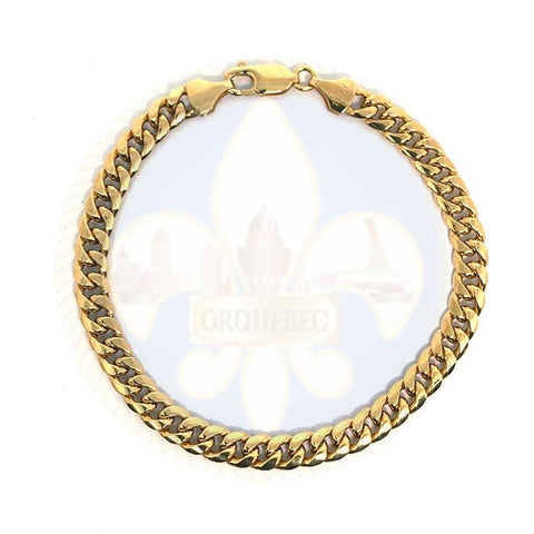 10k 6MM 8IN Cuban Link Bracelet MBG-035 - OR QUEBEC