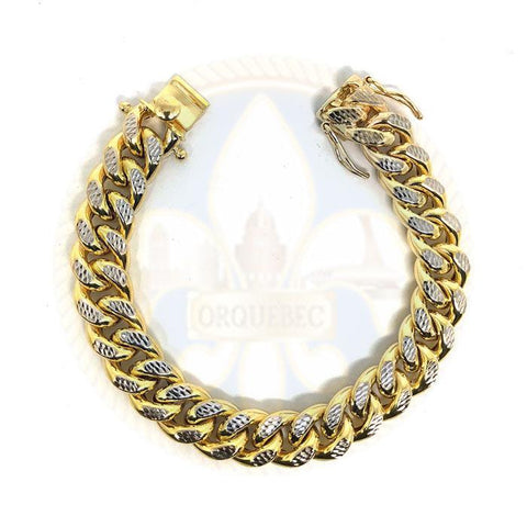 10k 14MM 9.5IN D-Cut Cuban Bracelet MBG-037 - OR QUEBEC