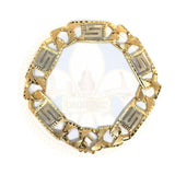 10k 8.5MM 9IN Versace Bracelet MBG-042 - OR QUEBEC