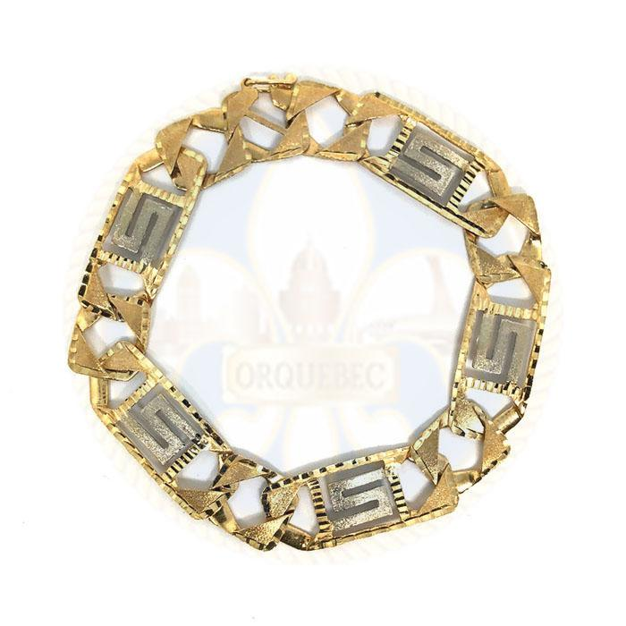 10k 14MM 9.5IN Versace Bracelet MBG-043 - OR QUEBEC
