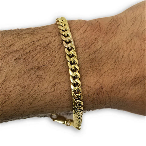 Miami Cuban Link en or 10K 6mm Italien MBG-060 - OR QUEBEC