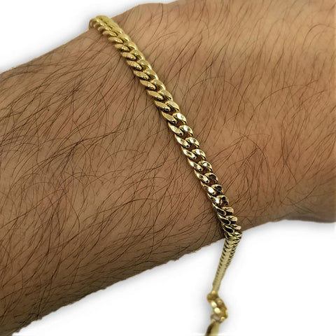 Miami Cuban Link en or 10K 4mm MBG-063 - OR QUEBEC