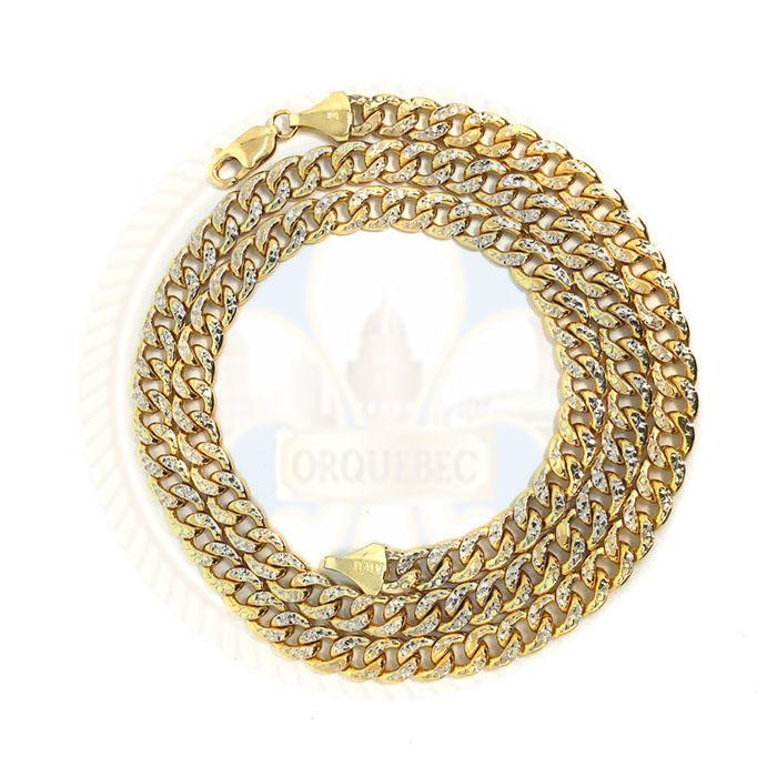 10k 7MM 24IN D-Cut Cuban Link Ensemble Collier MGC-014 - OR QUEBEC