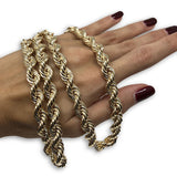 10k 8MM Chaine Torsade Rope Chain  - OR QUEBEC
