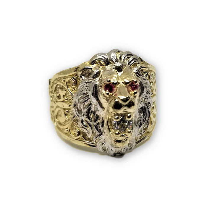 10K Or Jaune Bague Lion Homme MGR_224 - OR QUEBEC