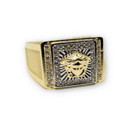 Bague Versace 10K Gold Ring