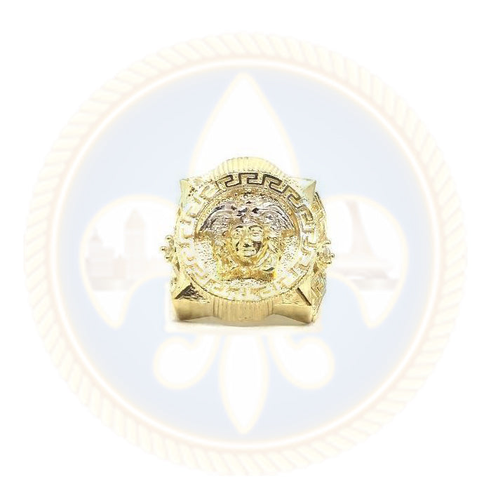 10K Solid Gold Versace Medusa Ring - MGR_011 - OR QUEBEC