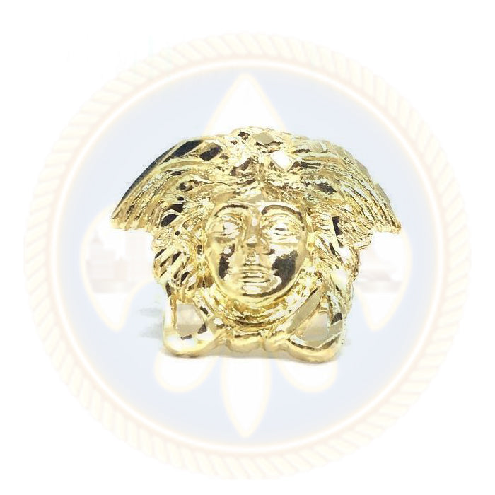 10K Solid Yellow Gold Versace Medusa Ring - MGR_013 - OR QUEBEC