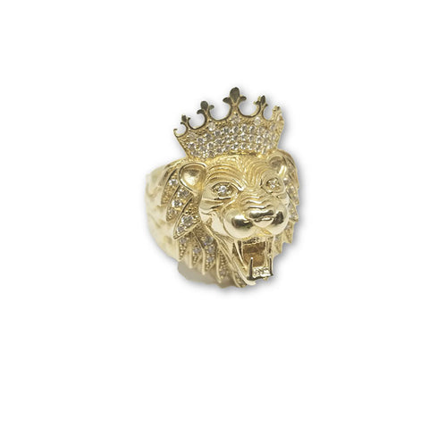 Bague Lion King en or jaune 10 karat MGR_055 - OR QUEBEC