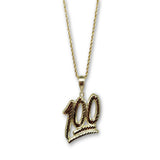 10K Collier Homme Emoji 100 en Or Jaune MNG-325 - OR QUEBEC