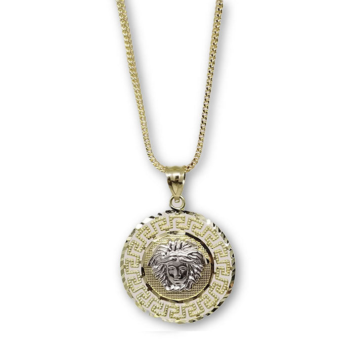 Franco 1MM Chaine Avec Ronde Versace Pendentif Homme MNG-285 - OR QUEBEC