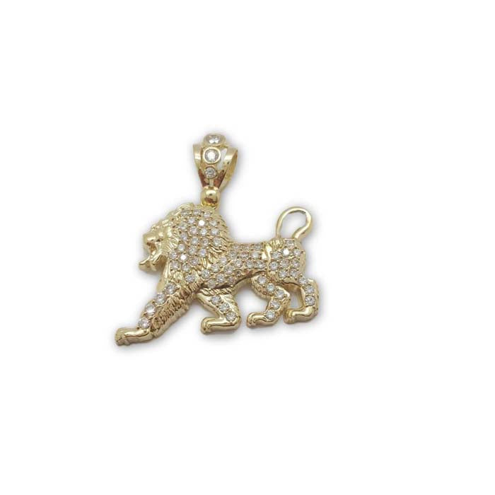10K en or Jaune Lion Pendentif Homme MPG-067 - OR QUEBEC